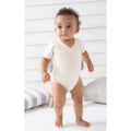 Natural - Side - Babybugz Baby Unisex Organic Cotton Kimono Bodysuit