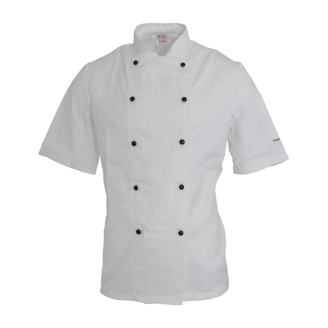 White - Front - Dennys AFD Adults Unisex Thermocool Chefs Jacket