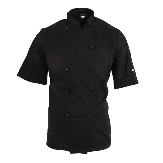 Black - Front - Dennys AFD Adults Unisex Thermocool Chefs Jacket