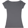 Asphalt - Back - Nakedshirt Womens-Ladies Alice Boatneck Short Sleeve Tunic T-Shirt