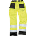 Hi-Vis Yellow - Lifestyle - Result Safeguard Adults Unisex Hi Viz Cargo Trousers