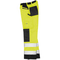 Hi-Vis Yellow - Close up - Result Safeguard Adults Unisex Hi Viz Cargo Trousers