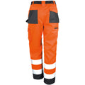 Hi Vis Orange - Side - Result Safeguard Adults Unisex Hi Viz Cargo Trousers