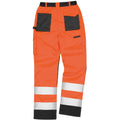 Hi Vis Orange - Lifestyle - Result Safeguard Adults Unisex Hi Viz Cargo Trousers