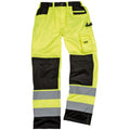 Hi-Vis Yellow - Back - Result Safeguard Adults Unisex Hi Viz Cargo Trousers