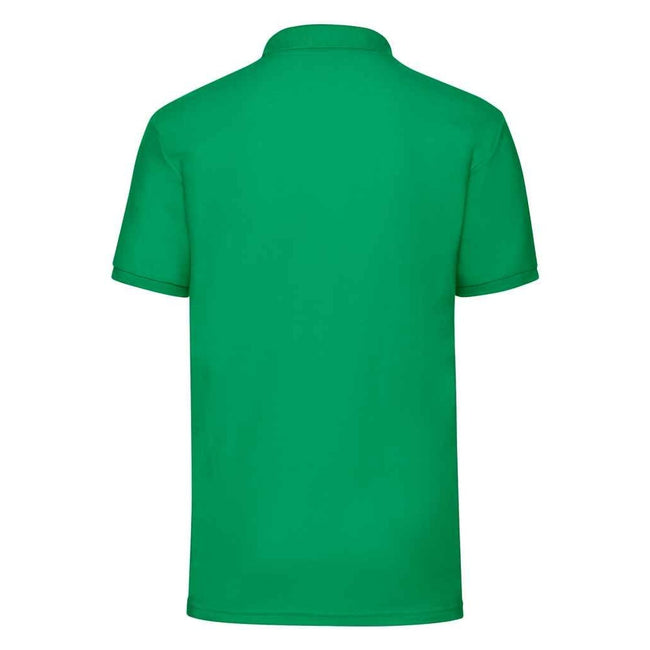 Heather Green - Side - Fruit Of The Loom Mens 65-35 Pique Short Sleeve Polo Shirt