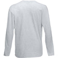 Grey Marl - Side - Mens Value Long Sleeve Casual T-Shirt