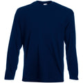 Midnight Blue - Back - Mens Value Long Sleeve Casual T-Shirt