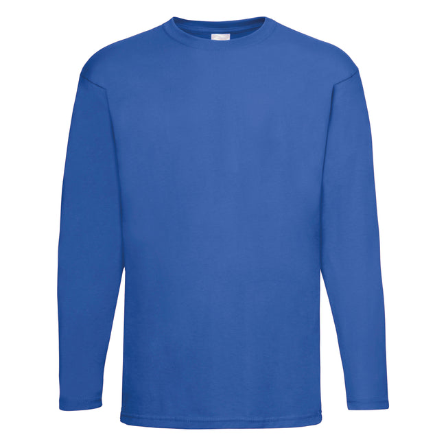 Cobalt - Back - Mens Value Long Sleeve Casual T-Shirt