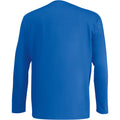 Grey Marl - Front - Mens Value Long Sleeve Casual T-Shirt