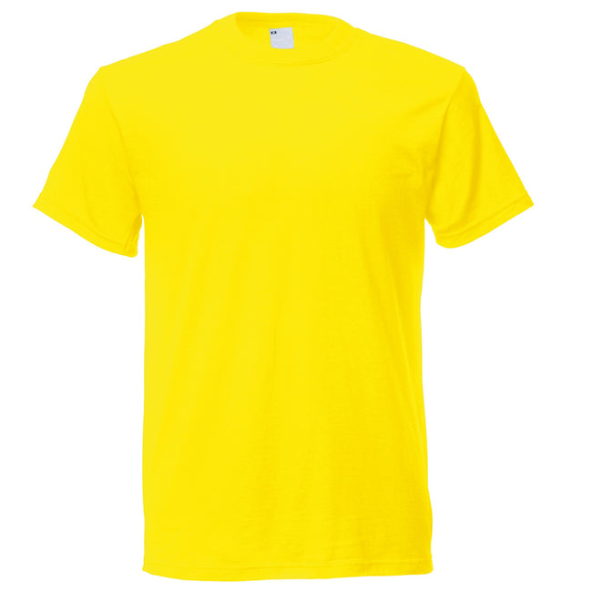 Bright Yellow - Back - Mens Short Sleeve Casual T-Shirt
