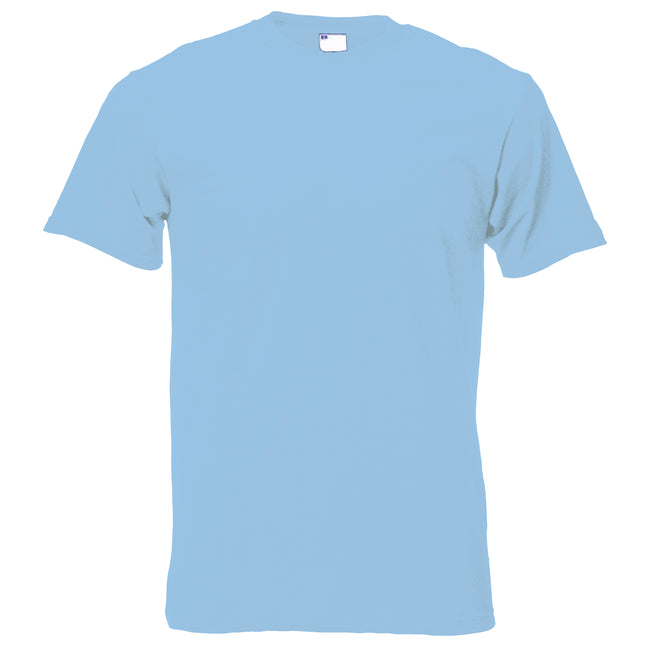 Light Blue - Back - Mens Short Sleeve Casual T-Shirt