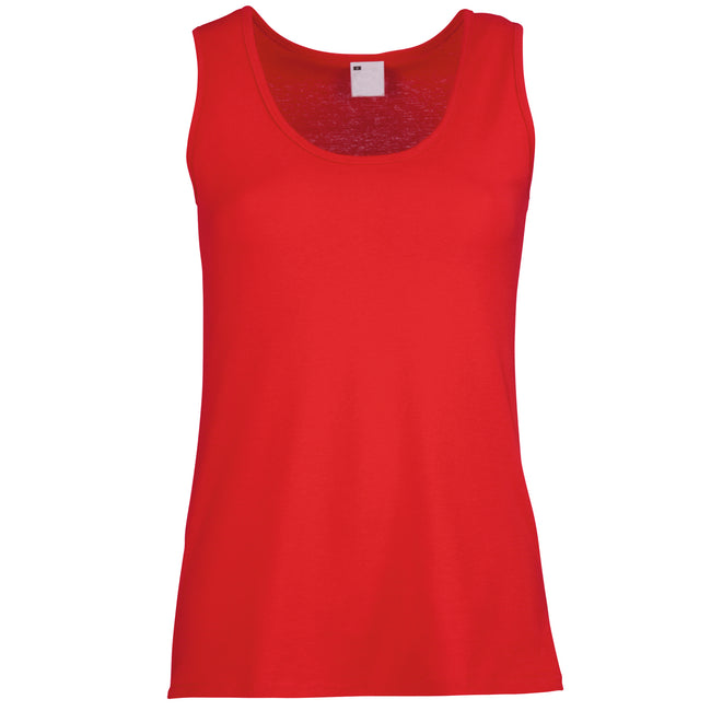 Classic Red - Front - Womens-Ladies Value Fitted Sleeveless Vest