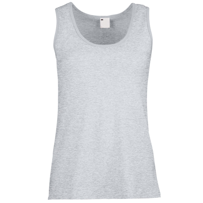Grey Marl - Front - Womens-Ladies Value Fitted Sleeveless Vest