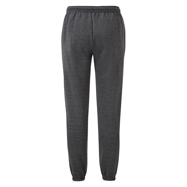 Dark Heather - Back - Fruit Of The Loom Mens Elasticated Cuff Jog Pants - Jogging Bottoms