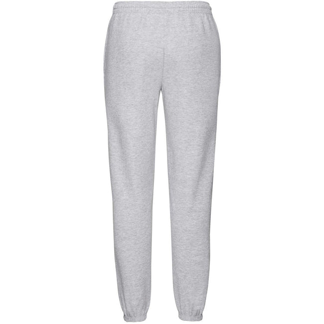 Heather Grey - Side - Fruit Of The Loom Mens Elasticated Cuff Jog Pants - Jogging Bottoms