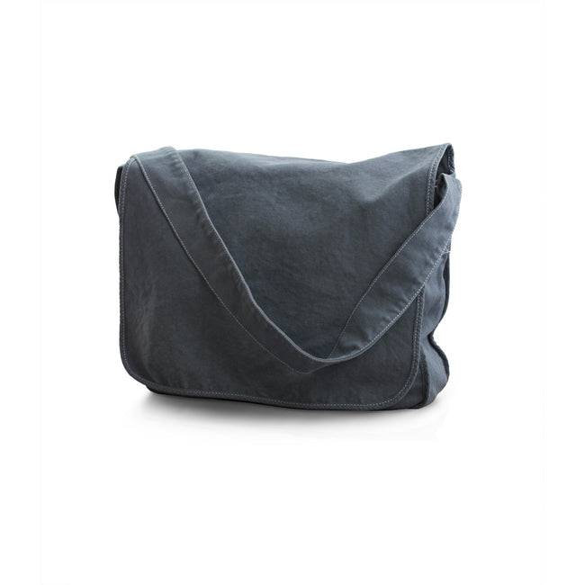 Denim Blue - Front - Bags By Jassz Canvas Messenger Bag