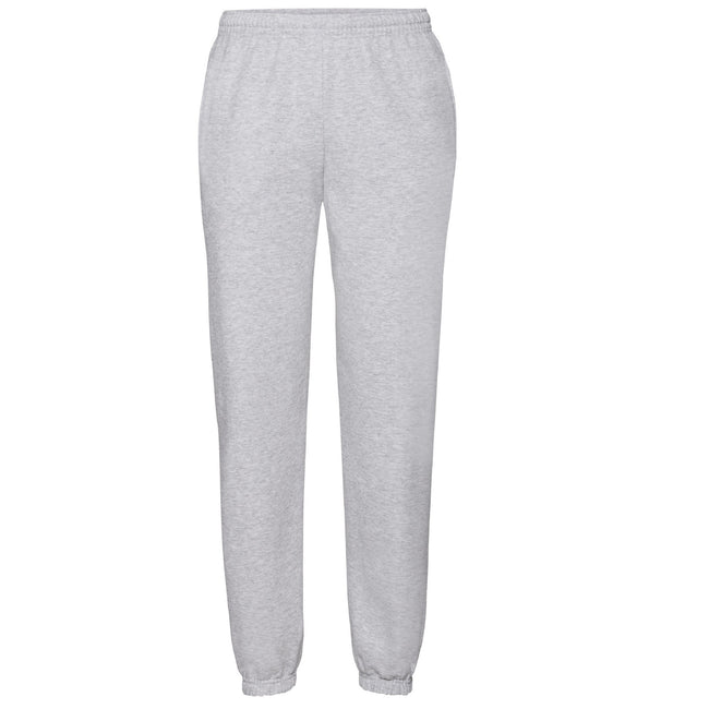 Heather Grey - Front - Fruit Of The Loom Mens Elasticated Cuff Jog Pants - Jogging Bottoms