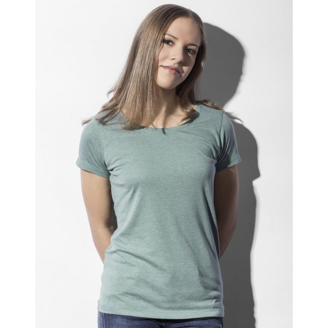 Double Dyed Seafoam - Back - Nakedshirt Womens-Ladies Nancy Triblend T-Shirt