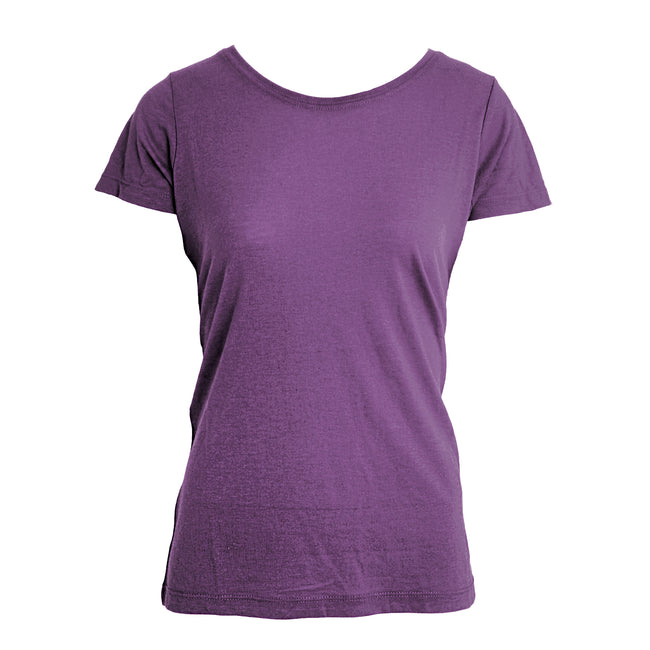 Vintage Purple - Front - Nakedshirt Womens-Ladies Nancy Triblend T-Shirt