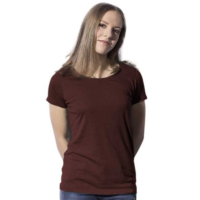 Vintage Grass - Front - Nakedshirt Womens-Ladies Nancy Triblend T-Shirt
