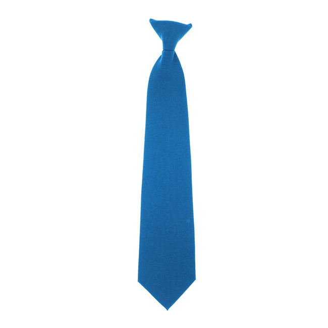 Royal - Front - Yoko Clip-On Tie (Pack of 4)