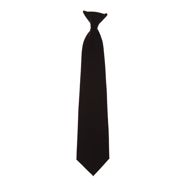Black - Front - Yoko Clip-On Tie (Pack of 4)