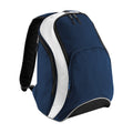 French Navy-Bright Royal-White - Front - Bagbase Teamwear Backpack - Rucksack (21 Litres) (Pack of 2)