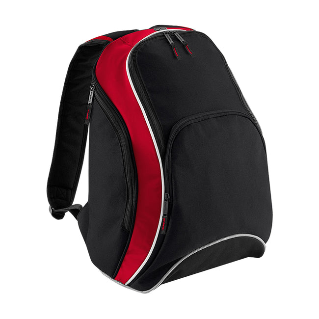 Black-Classic Red-White - Front - Bagbase Teamwear Backpack - Rucksack (21 Litres) (Pack of 2)