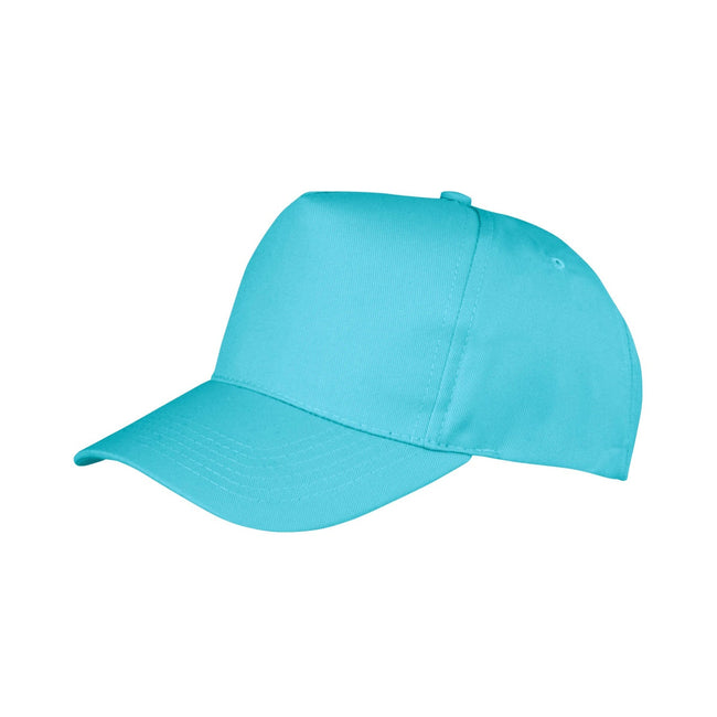 Apple Green - Front - Result Unisex Core Boston 5 Panel Printers Baseball Cap (Pack of 2)