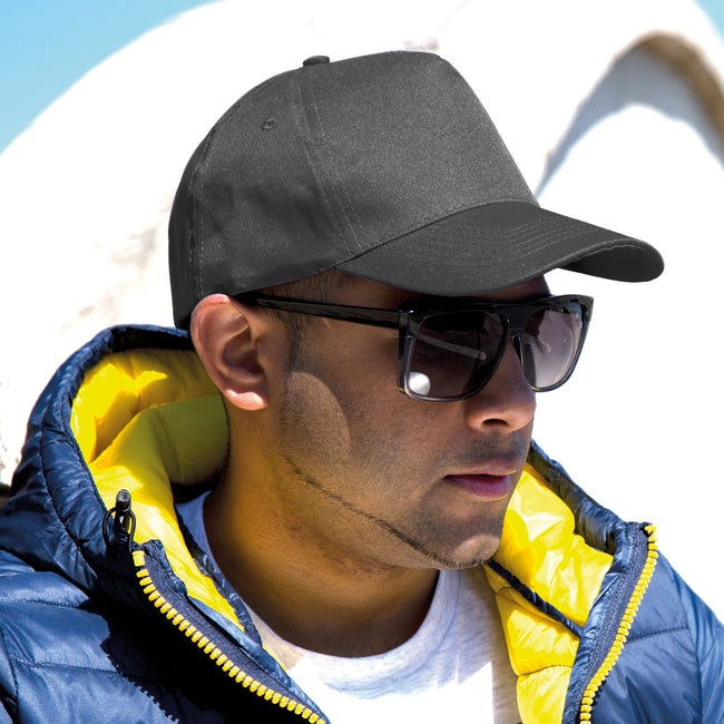 Sky Blue - Front - Result Unisex Core Boston 5 Panel Printers Baseball Cap (Pack of 2)