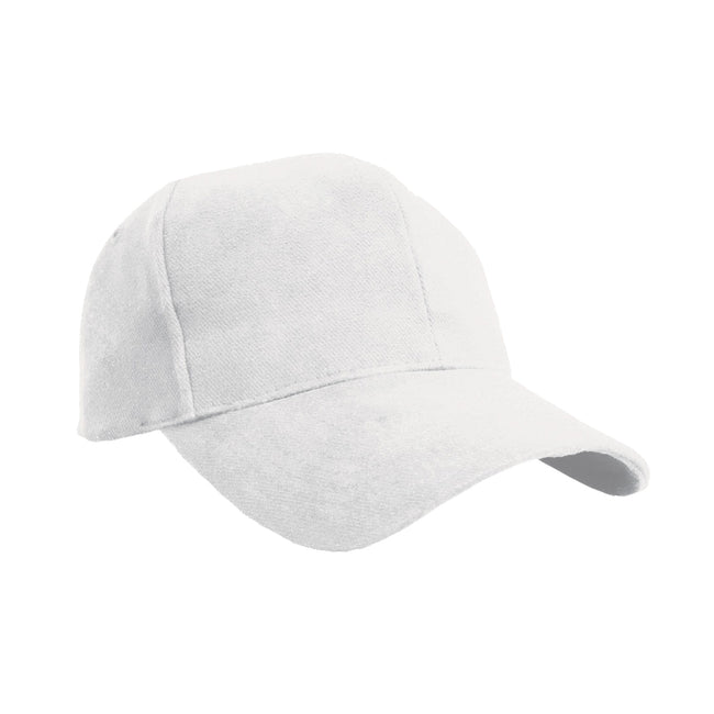 White - Front - Result Pro Style Heavy Brushed Cotton Baseball Cap (Pack of 2)