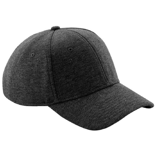 Heather Graphite - Front - Beechfield Unisex Jersey Athleisure Baseball Cap (Pack of 2)