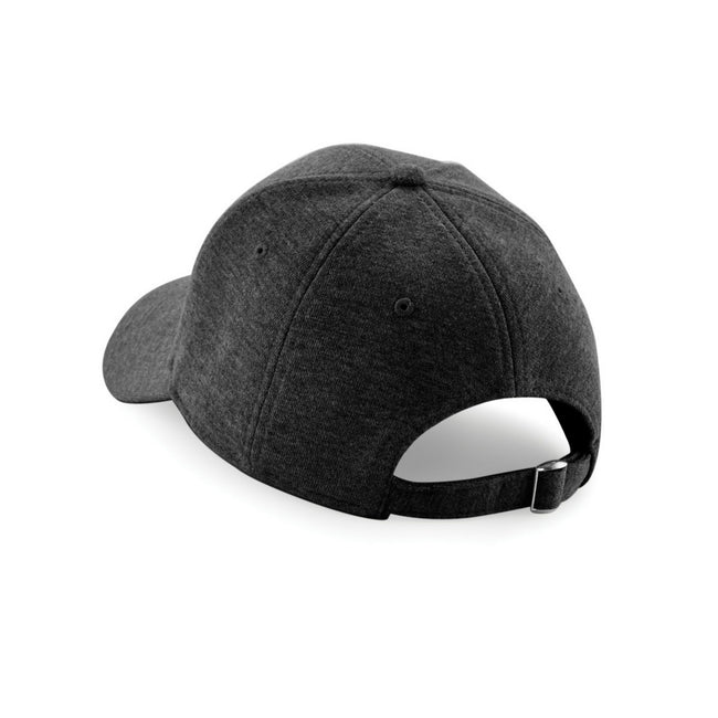 Heather Graphite - Back - Beechfield Unisex Jersey Athleisure Baseball Cap (Pack of 2)