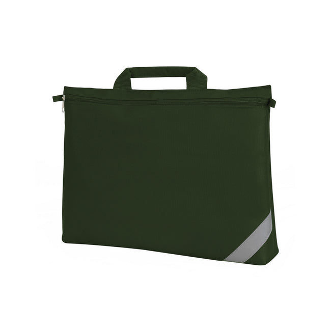 Bottle Green - Front - Shugon Oxford Classic Portfolio Book Bag (Pack of 2)