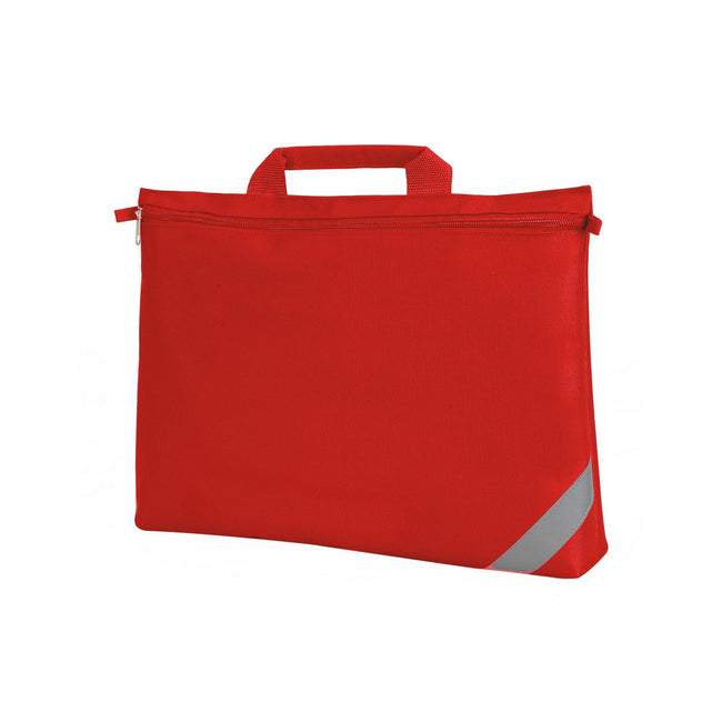 Red - Front - Shugon Oxford Classic Portfolio Book Bag (Pack of 2)