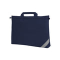 Navy Blue - Front - Shugon Oxford Classic Portfolio Book Bag (Pack of 2)