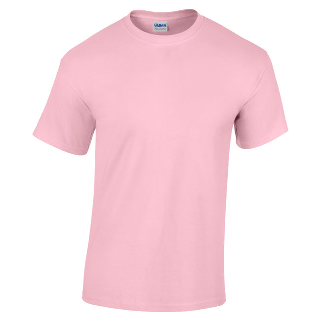 Light Pink - Front - Gildan Childrens Unisex Heavy Cotton T-Shirt (Pack Of 2)
