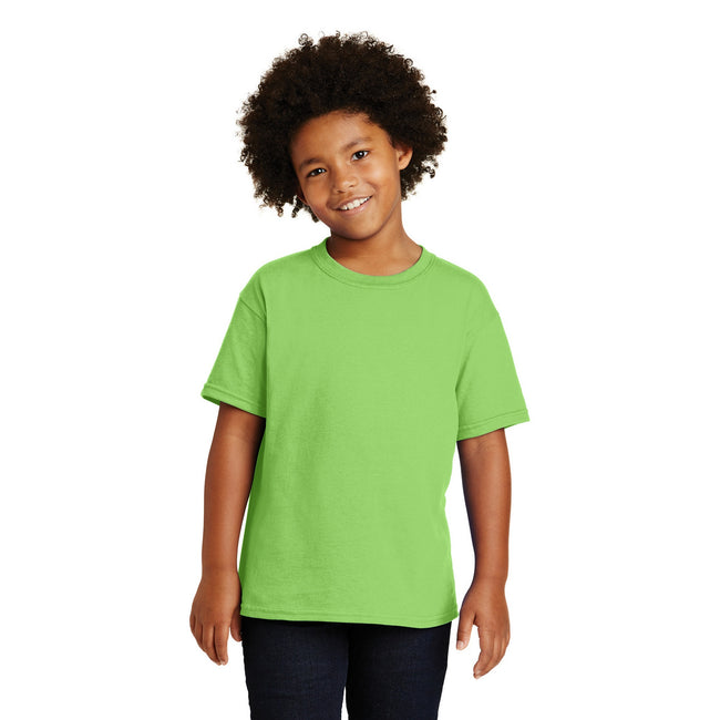 Graphite Heather - Front - Gildan Childrens Unisex Heavy Cotton T-Shirt (Pack Of 2)
