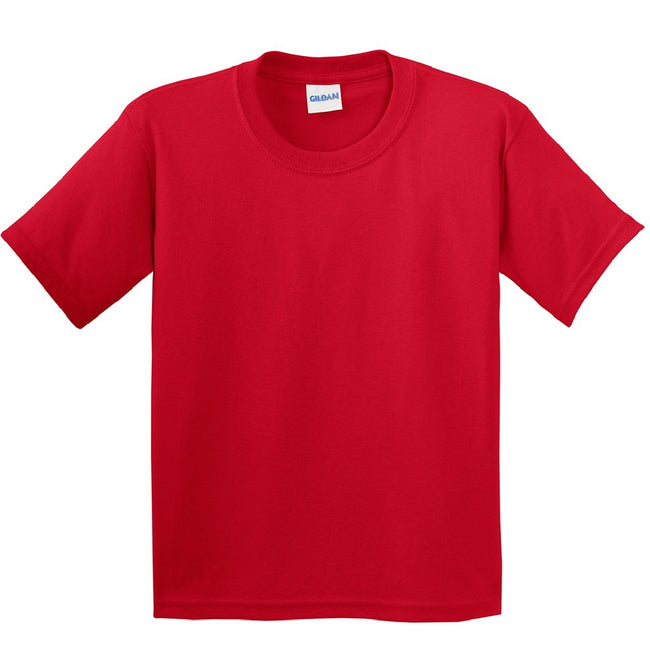 Red - Front - Gildan Childrens Unisex Soft Style T-Shirt (Pack Of 2)