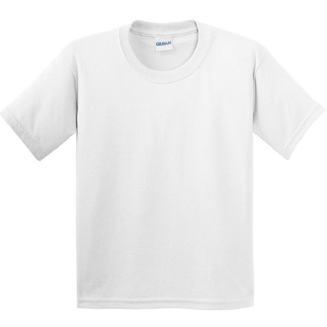 White - Front - Gildan Childrens Unisex Soft Style T-Shirt (Pack Of 2)