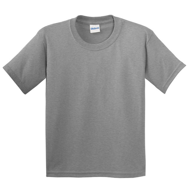 Sport Grey (RS) - Front - Gildan Childrens Unisex Soft Style T-Shirt (Pack Of 2)