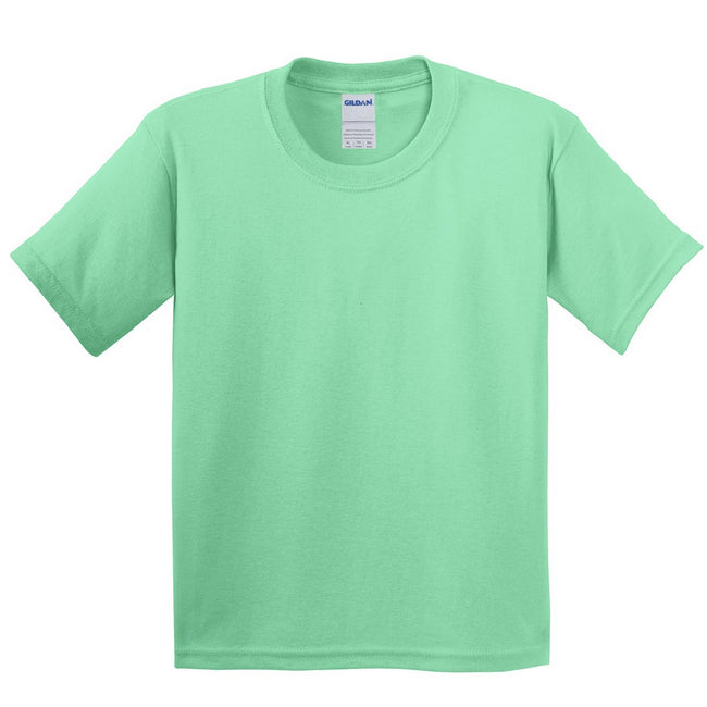 Mint Green - Front - Gildan Childrens Unisex Soft Style T-Shirt (Pack Of 2)