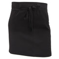 Black - Front - Dennys Ladies-Womens Economy Short Bar Workwear Apron (Without Pocket) (Pack of 2)