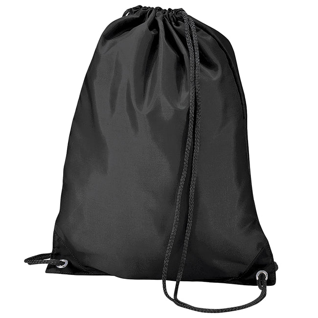 Black - Front - BagBase Budget Water Resistant Sports Gymsac Drawstring Bag (11 Litres) (Pack of 2)