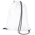 White - Front - BagBase Budget Water Resistant Sports Gymsac Drawstring Bag (11 Litres) (Pack of 2)