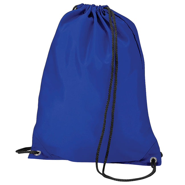 Royal - Front - BagBase Budget Water Resistant Sports Gymsac Drawstring Bag (11 Litres) (Pack of 2)
