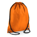 Orange - Front - BagBase Budget Water Resistant Sports Gymsac Drawstring Bag (11 Litres) (Pack of 2)