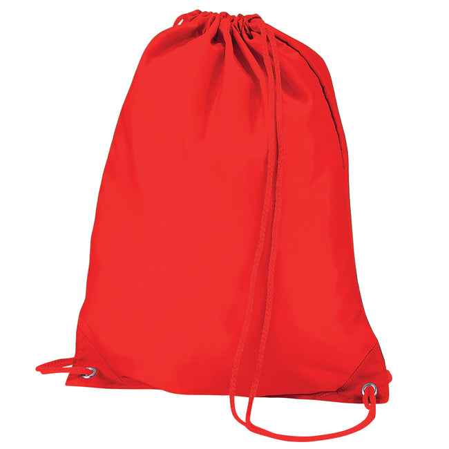 Bright Red - Front - Quadra Gymsac Shoulder Carry Bag - 7 Litres (Pack of 2)