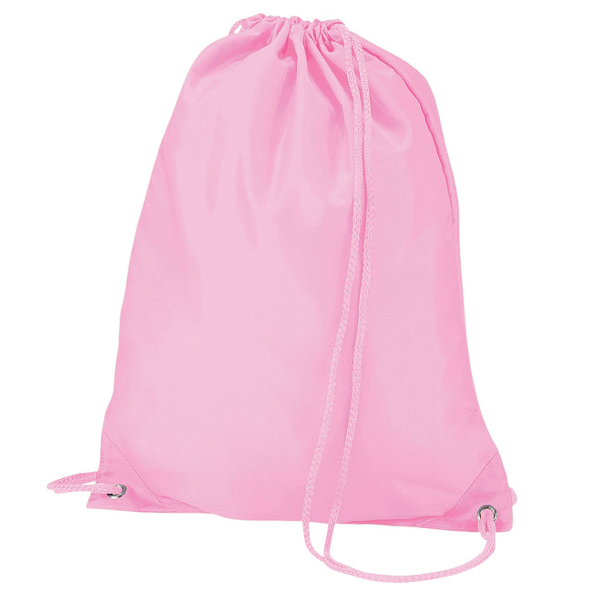Classic Pink - Front - Quadra Gymsac Shoulder Carry Bag - 7 Litres (Pack of 2)